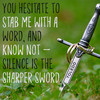 Thumbnail Viral Social Quote Posters & Icons - Silence